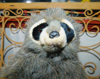 Raccoon Hand Puppet, Vintage Raccoon Hand Puppet, Vintage Hand Puppet, Raccoon, Vintage Toys, Toys, Puppet Show,