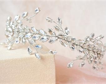 Rhinestone Hair Vine,Bridal Hair Vine,Wedding Hair Vine,Crystal Hair Vine,Bridal Hair Piece,Bridal Head Piece,Crystal Head Piece, Wedding