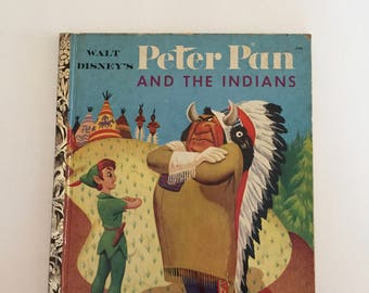 Peter Pan and the Indians A Little Golden Book RARE Vintage Children's Book 1952 #D26 Good Condition