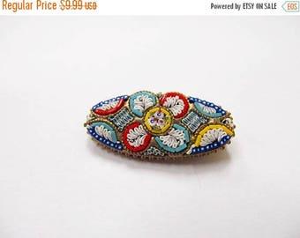 ON SALE Vintage Italian Mosaic Pin Item K # 815