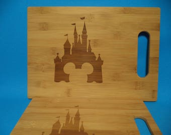 Castle with Mickey Icon Bamboo Cutting Boards / Set of TWO!