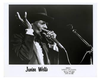 Junior Wells Publicity Photo 8 by 10 B&W