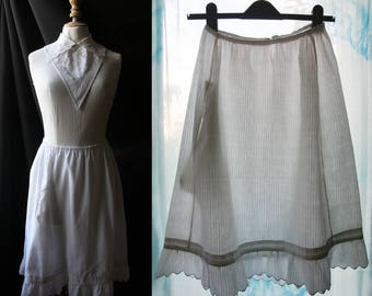 Antique white skirt (or petticoat), cotton