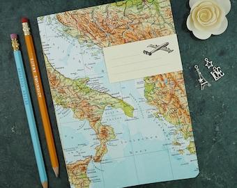 Italian journal etsy travel journal italy bosnia sicily bari 7x82inch 40p gumiabroncs Gallery