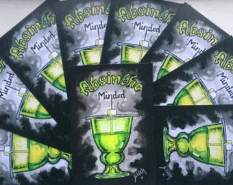 Absinthe minded prints, artwork. Victorian absinthe.
