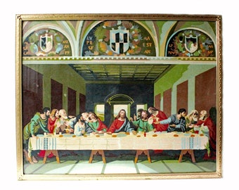 Vintage Paint By Number The Last Supper