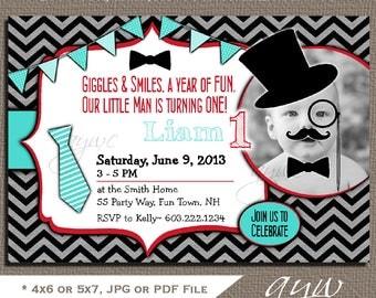 Little Man Birthday Party Invitation Printable Little Man 1st Birthday Invites Printable Mustache First Birthday Party Invites Boy Photo