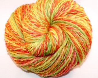Hand Spun Yarn - Neon - Worsted Weight - 235 Yards