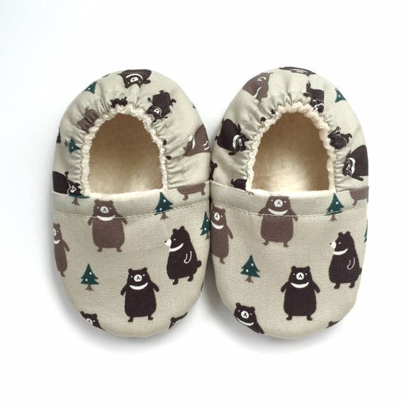 Bears Soft Sole Vegan Baby Shoes