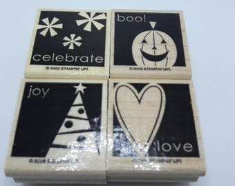 Gently Used shadow Stamps, Say it Simply, DESTASH, Stampin Up stamp set, Retired stamp set