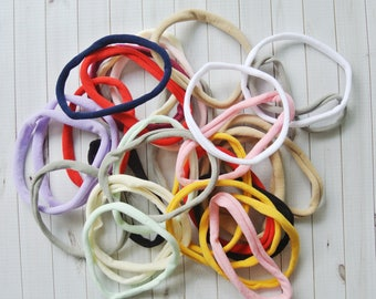 Grab bag of nylon headbands, soft stretchy one size fits all headband, wholesale nylon headbands, diy headband