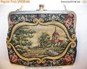 Vintage 50s Petit Point Purse Evening Bag