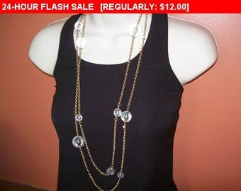 Vintage Beaded chain necklace, vintage bead and chain necklace, hippie