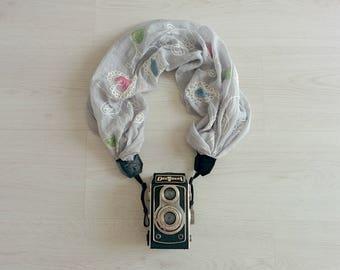 Camera strap scarf  Luxury camera strap Moonlight camera strap  Camera scarf DSRL camera strap Photographer accessories Camera accessories