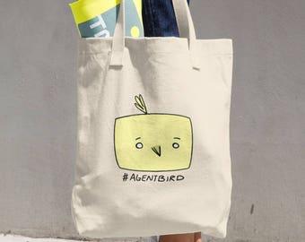 Agent Bird Cotton Tote Bag