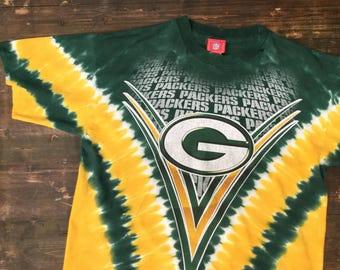Tie Dye Green Bay Packers T-Shirt