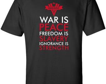 Ingsoc War is Peace Orwell 1984 T-shirt