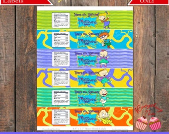 Rugrats Water Bottle Labels Wrappers PERSONALIZED Digital Download