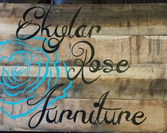 Hand Painted Rustic Custom Sign