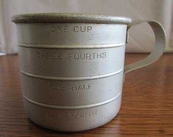 Vintage Aluminum Wear-Ever Measuring Cup