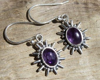 """Earrings """"sunny Amethyst"""" and Silver 925"""