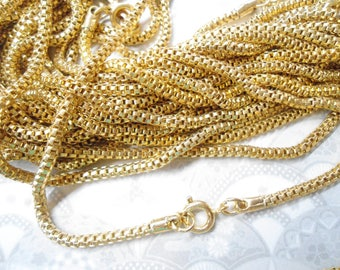 "3 Goldplated 24"" Snake Serpentine Mesh Chains"