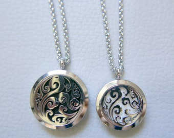 Essential Oil Diffuser Necklace/Stainless Steel Necklace/Aromatherapy Oil Necklace/Locket(20mm)
