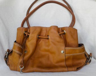 Brown Leather Fossil Handbag/ Purse Vintage  FREE SHIPPING!