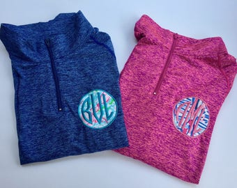Lilly Pulitzer Fabric Monogrammed Athletic Pullover