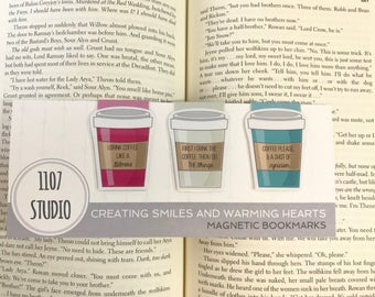 Gilmore Girls Inspired Coffee Magnetic Bookmark Set