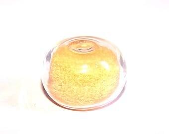 Globe flattened ball 20 x 15 mm sand filled glass ORANGE