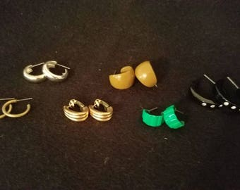 Assorted Small Hoop Earrings