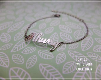 Name Bracelet- Custom name Bracelet- Personalized name bracelet-Your name bracelet- Sterling Bracelet- Birthday gift- Bridesmaids #BL22
