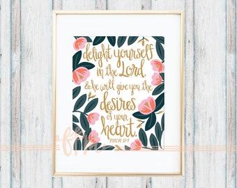 Psalm 37:4 Print