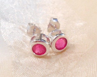 Ruby Earrings Studs July Birthstone Anniversary Gift Handmade Jewelry by NorthCoastCottage Jewelry Design & Vintage Treasures