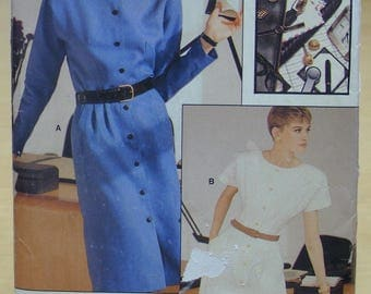 FREE SHIPPING! Vogue 7144 Easy career dress sewing pattern 12 14 16 UNCUT
