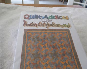 """Paper Pattern called Dancing Chrysanthemums by Quilt Addicts 61"""" square"""