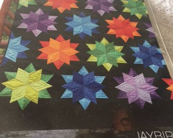Paper pattern for a quilt called Night Sky by Jaybird Quilts in five sizes