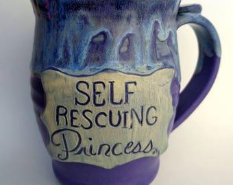 Self Rescuing Princes mug, Periwinkle Purple, #18, 24oz