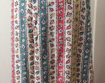 SUPER SALE 1940s floral A-line skirt - Sz M