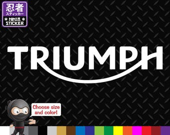 Triumph Vinyl Decal