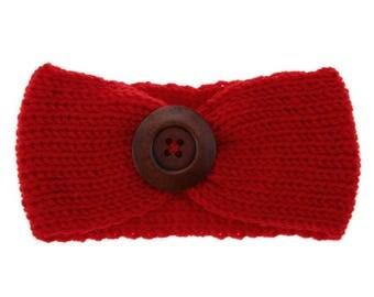 Winter Warm Button Headband, U PICK COLOR, Crochet Headband, Baby Knitted headband, Knitted Headband, Stretchy Knitted Headband