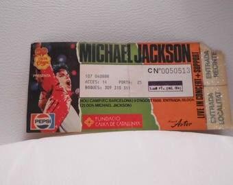 Free shipping-Michael Jackson,  Live in Barcelona 1988, ticket Michael Jackson, Bad