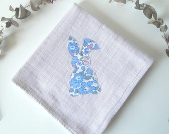 Cloth diaper 60x60cm sand cotton and Liberty Betsy