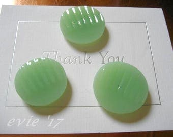Pyrex 3 Piece MAGNET SET in Fire King Jadeite Jane Ray Fashioned from Vintage Fire King Shards (B190)