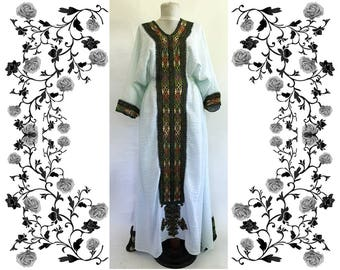 Very Rare 1970's Vintage Ethnic Hand Embroidered Dress