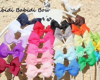 Mini hair bows - set of 5 - baby girl hair bows -  Baby shower gift - 1.00 hair bows -infant hair bows - You can choose colors
