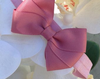Baby vintage pink headband for 3-6 months