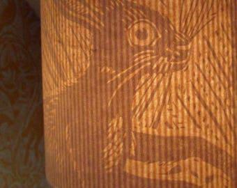 Lampenschirm - Hasenmotiv