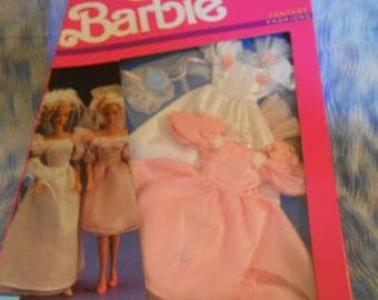 1989 Mattel Barbie Wedding Dress and Bridesmaid Dress-Sealed Box